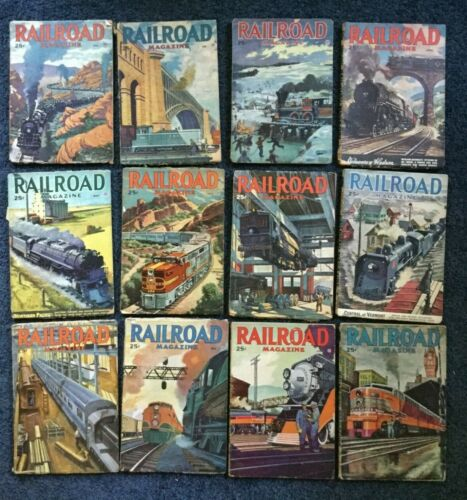 RAILROAD STORIES MAGAZINE - 1947 Complete - 12 issues