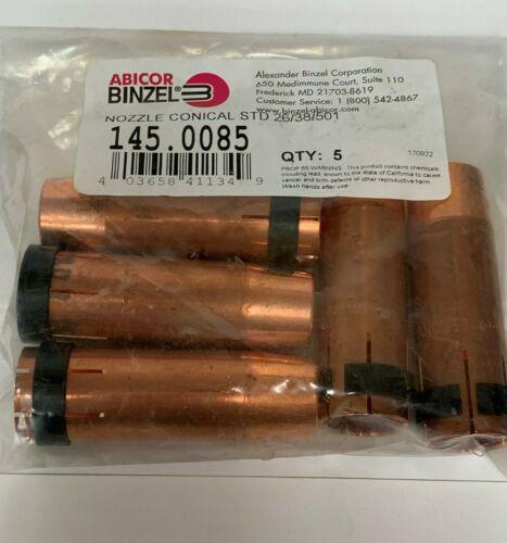 Abicor Binzel Nozzle 145.0085 Conical Std 26/38/501, 5/pk
