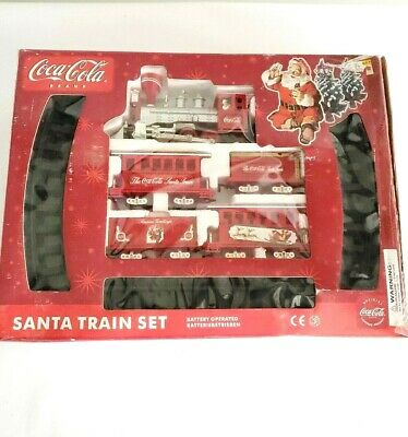 Vtg. Coca-Cola Santa Train Set 1986 New Damaged Box