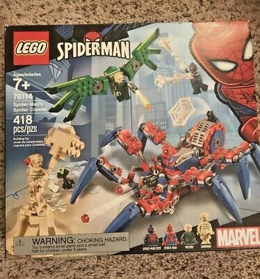 New LEGO 76114 Marvel Spider-man's Spider Crawler 418 Pieces With 4 Minifigures