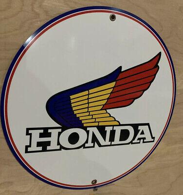 Honda Motorcycle Vintage Logo Round Reproduction Garage Sign