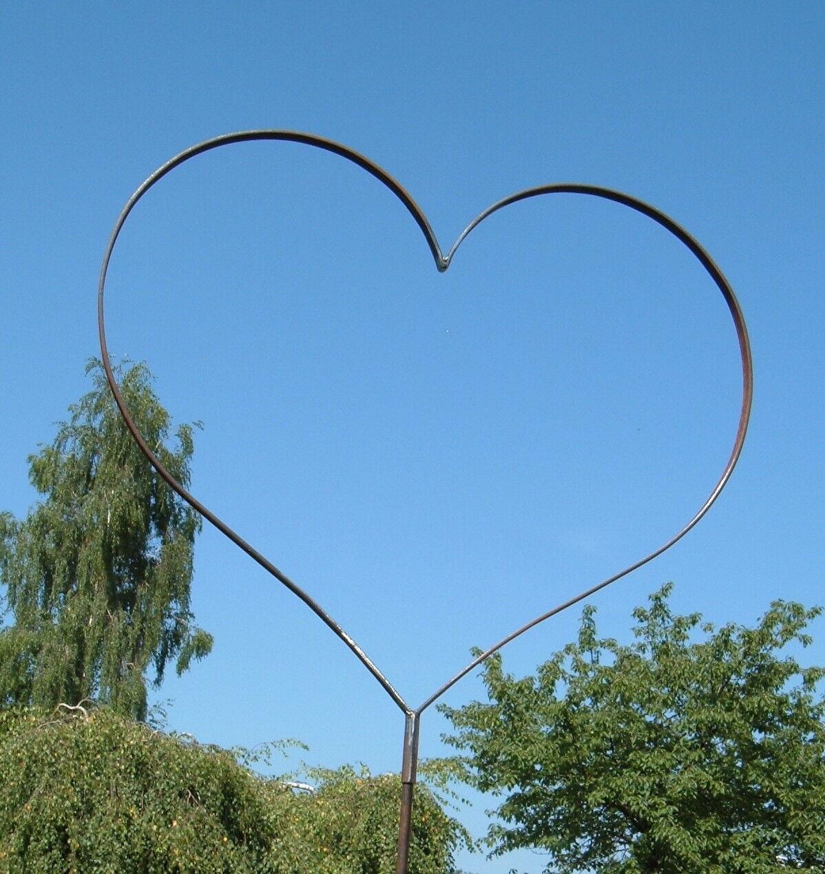 XXL Herz aus Metall - Gartenstecker - Eisenherz Ø 1 Meter - Hochzeit - NEU !!