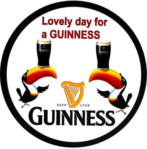 "Guinness Beer ""Lovely Day for a Guinness""  24"" Metal Sign"