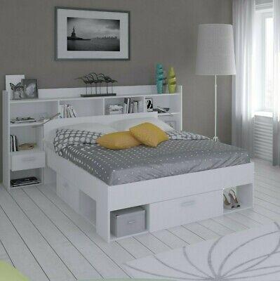 Pack muebles dormitorio habitacion completo chicago blanco (cama + cabecero)