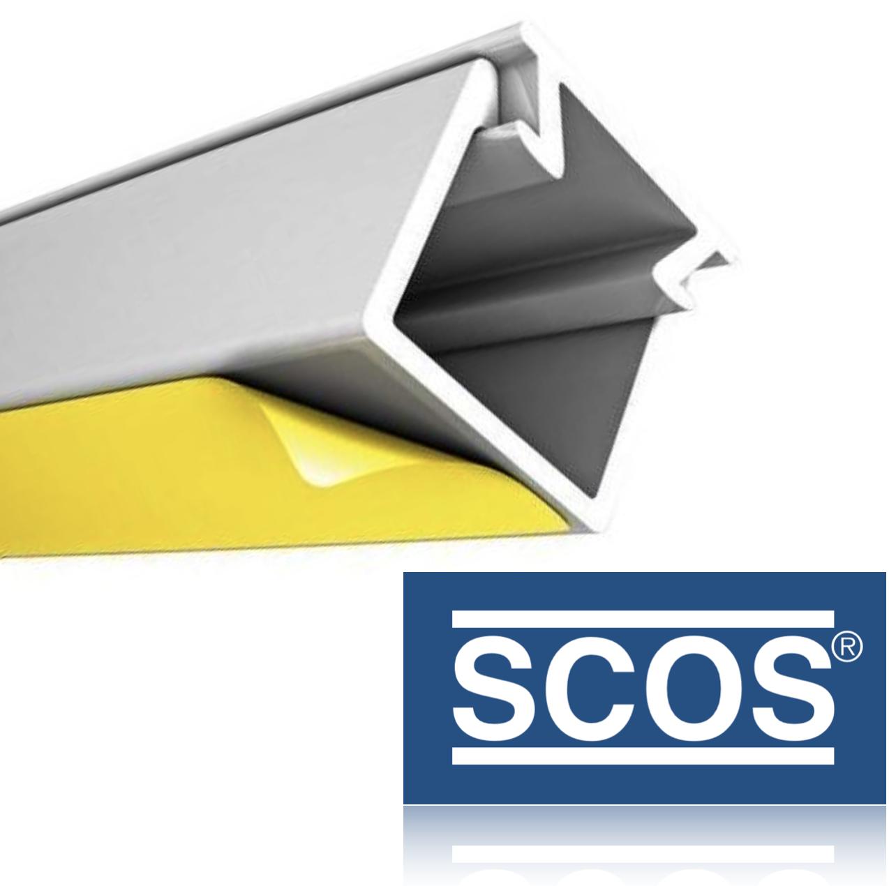 2m 80x40mm Profi Kabelkanal Schraubbar PVC SCOS® Kanal