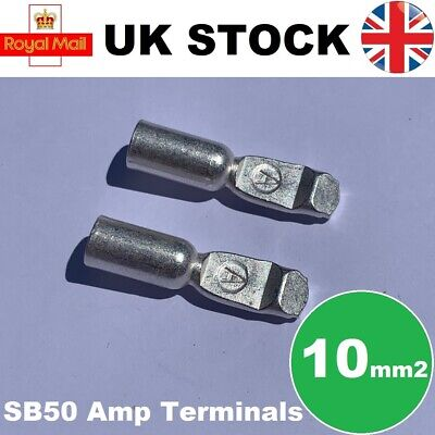 Anderson Connector Cable Terminals 50A x2 Contacts SB50 Compatible 10mm2 Pair