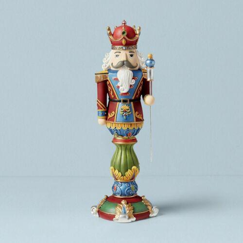 NEW NWT Lenox  2020 14.5 in Christmas Red Crown Nutcracker King Figurine