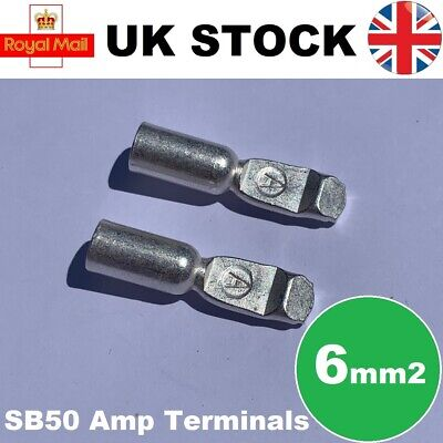 Anderson Connector Cable Terminals 50A x2 Contacts SB50 Compatible 6mm2