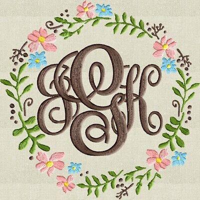 Digital Embroidery Design File Bundle-Frame & font Included- PES HUS DST JEF EXP Font Frames Embroidery Design