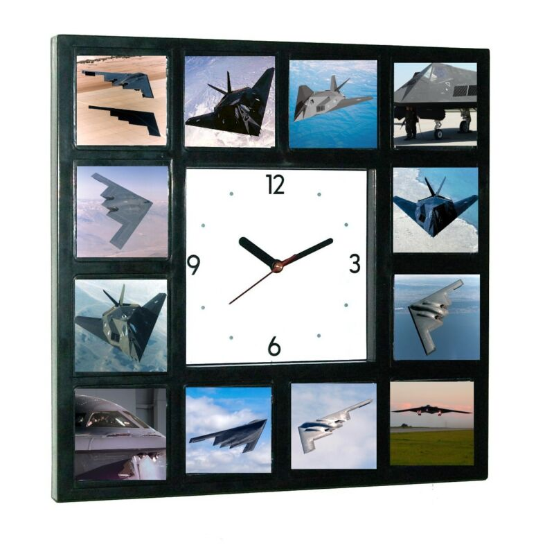 Air Force Stealth Bomber Fighter Plane Jet War Clock 12 pictures