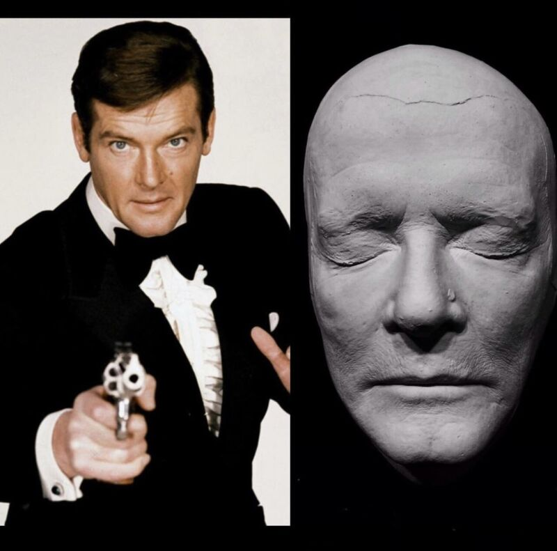 Roger Moore Life Mask Cast James Bond 007 Live and Let Die The Saint Very Rare!!
