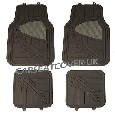 Citroen DS5   BlackGrey HEAVY DUTY All WEATHER Front Rear RUBBER CAR Floor MATS