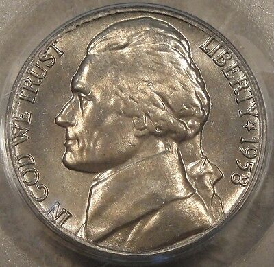 Click now to see the BUY IT NOW Price! 1958 D JEFFERSON NICKEL PCGS MS 66FS