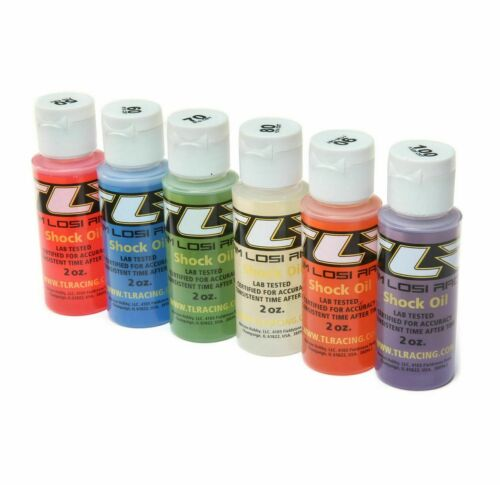 6-Pack Silicone Shock Oil 50,60,70,80,90,100 2oz each Team Losi Racing TLR74021