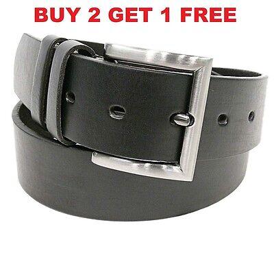 Mens BLACK Brown Dress Casual BELTS Genuine PU LEATHER Belt W/ Buckle Waist NEW