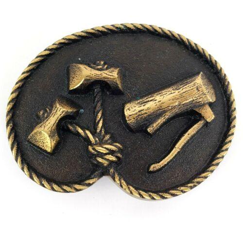 Vintage Wood Badge Boy Scouts Max Silber Bronze Belt Buckle