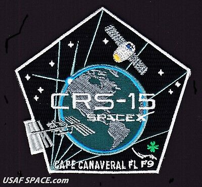 New Crs 15   Spacex Original Falcon 9 Dragon F 9 Iss Nasa Resupply Mission Patch