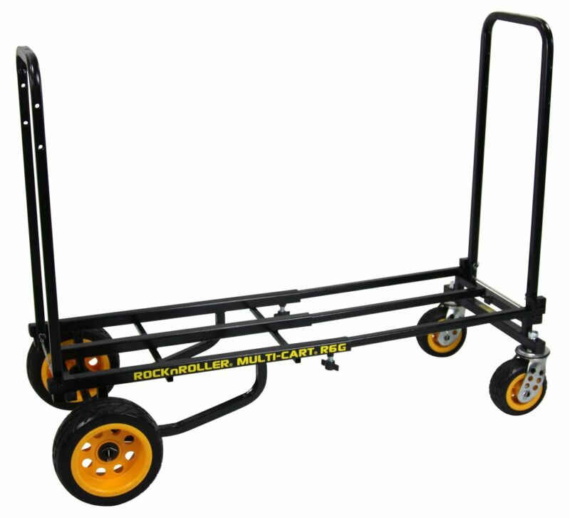 Rock N Roller R6 Mini Ground Glider 500lb Capacity DJ PA Equipment Cart R6G