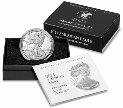 American Eagle 2021 One Ounce Silver Proof Coin (21EMN) S Lot of 3 - SHIPS TODAY