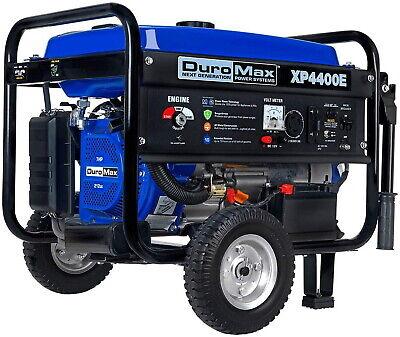 Duromax Xp4400e Gas Powered 4400 Watt Electric Start Portable Gasoline Powered