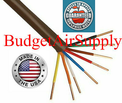Thermostat Wire 18-8 X 100ft 18 Gauge 8 Wire Conductor 188 Made In The Usa