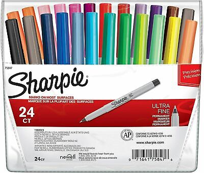 Sharpie Ultra Fine Point Permanent Markers 24-color Set - Ultra Fine Point