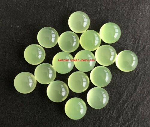 Natural Prehnite Chalcedony 3mm To 20mm Round Cabochon Loose Gemstone