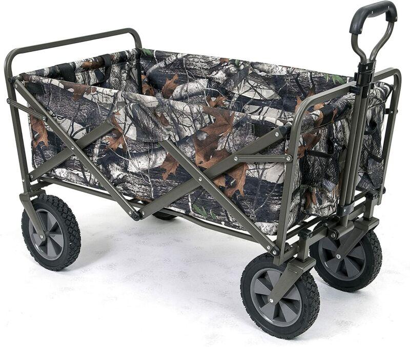 MAC SPORTS LARGE CAPACITY Camouflage Utility Folding Wagon Heavy Duty Carts