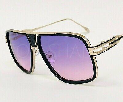 Orange Lens Sunglasses (Men Women Sunglasses Big Fashion Designer Square Style Purple Orange Green)