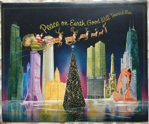 Vintage Mayor of Chicago Richard J Daley Christmas Card No Envelope