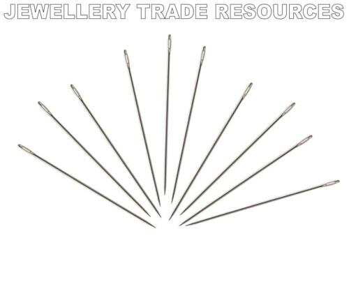 100 x Beading Needles for Stringing & Threading Beads & Pearls 0.30mm Size 13