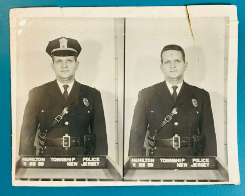 1959 Hamilton Township Police Department Captain Mercer Co New Jersey Photograph