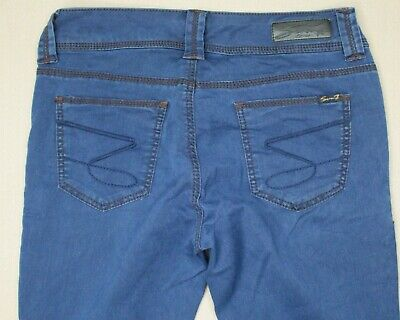 Ex Mistral Ladies Womens Indian Teal Blue Straight TWILL Trousers Jeans 12 14