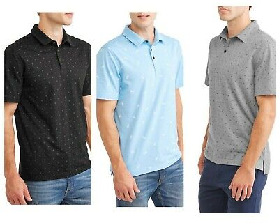 George Mens All Over Print Jersey Polo Shirt (6 Diff) Size: XL, XL, 2XL, 3XL NWT