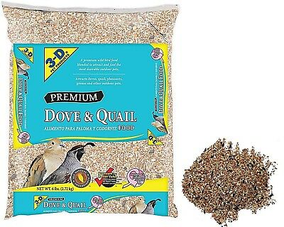 Bird Food Dove Quail Pheasants Game Premium, 6 lbs, 3-D Pet Products (2-Day SH)