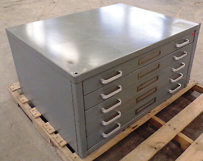 Stacor Metal Blueprint Drawing Cabinet 36 X 28 X 17-58 5 Drawers