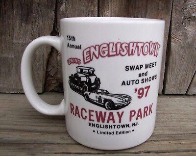 1997 Swap Meet Auto Show Mug Cup Old Bridge Englishtown Raceway Park Drag Strip