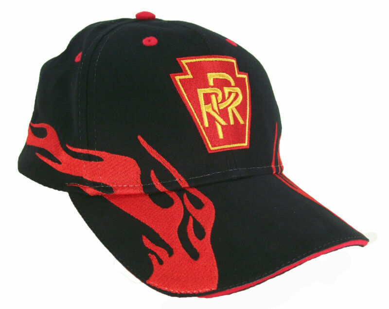 Pennsylvania Railroad PRR Embroidered Flame Cap Hat #40-0009RF