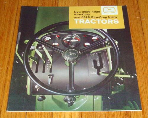 Original 1964 John Deere 3020 - 4020 Row-Crop & Utility Tractor Sales Brochure