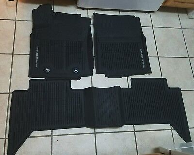 2016-2017 Toyota Tacoma Double Cab OEM All Weather Floor Mats For (2016 Toyota Tacoma All Weather Floor Mats)