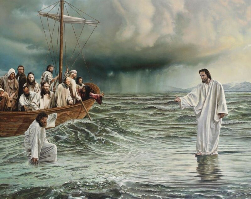JESUS WALKING ON WATER 8X10 GLOSSY PHOTO PICTURE