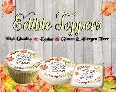 Fall in Love edible cookie toppers images pictures cupcakes Leaves wedding easy - Halloween Easy Cupcakes