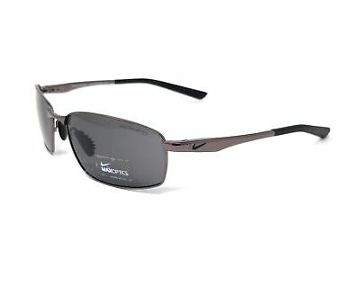 NIKE Sunglasses AVID SQ EV0589 004 Gunmetal Rectangle Men's 57x16x135