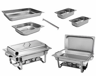 2x Chafing Dish Speisewärmer Warmhaltebehälter Edelstahl Buffet-Set
