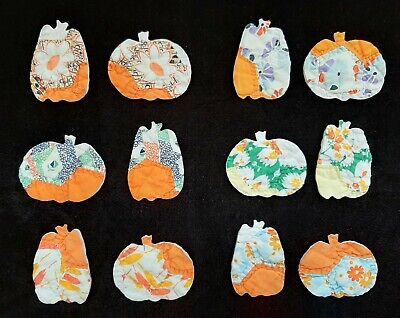 "Vintage Cutter Quilt Pumpkin Appliques ~ Sweet Calico ""Pumpkin"" Prints!"