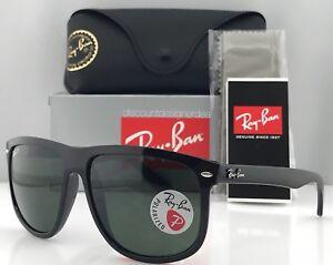 3120c98f7f Ray-Ban RB4147 Sunglasses Black Frame Green Polarized Lenses 601 58 60mm  Large