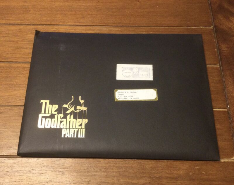 Rare The Godfather III Movie Press Kit And Sealed Photos - Al Pacino Andy Garcia