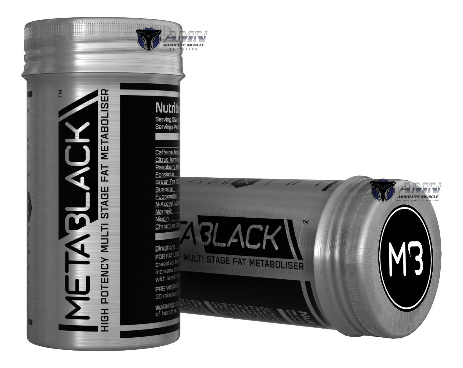 Bcaa Kick Body Attack details about metablack- m3 - 60 capsule x 2 - high potency fat metaboliser