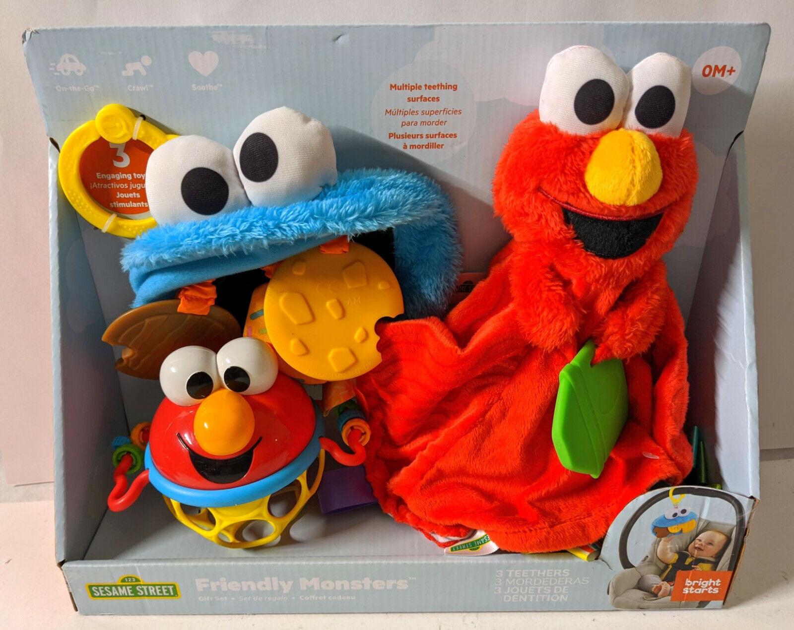Sesame Street Friendly Monsters 3 Teether Gift Set Elmo Cook