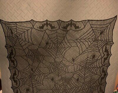 Halloween Spider Webbing (Juvale Halloween Table Runners Spider Web Design Lace Table Cloth 49
